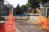 Lavori al cancello scuola Villaggio Prenestino