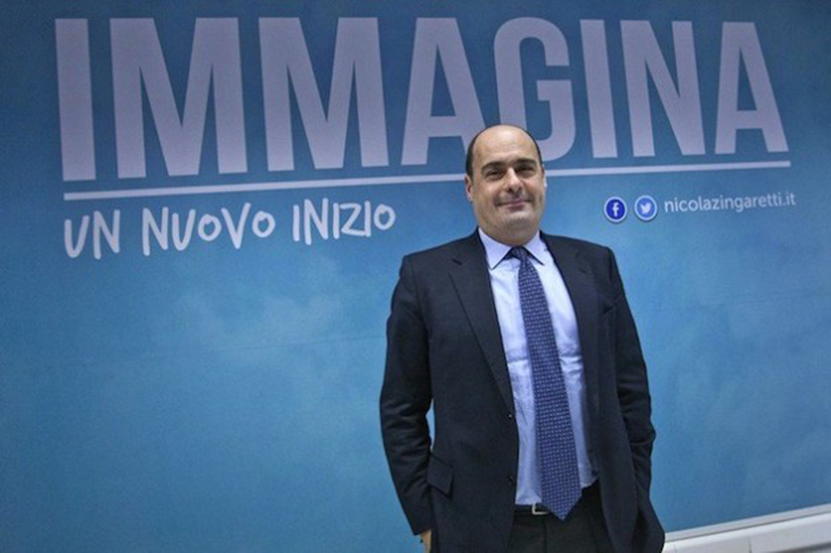 Nicola Zingaretti per il centrosinistra