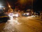 Camionette della Polizia occupano Via di Torrenova