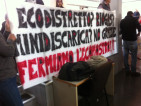 striscione in aula