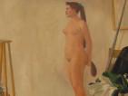 Manz+¦ - Il pittore e la modella (olio su tela 1958)