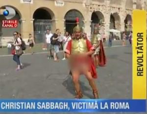 Gladiatori colosseo aggressione